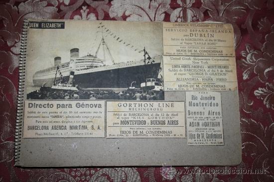 INTERESANTE COLECCIÓN DE FOTOGRAFÍAS, POSTALES Y RECORTES DE PERIÓDICO DE BARCOS (Postales - Postales Temáticas - Barcos)