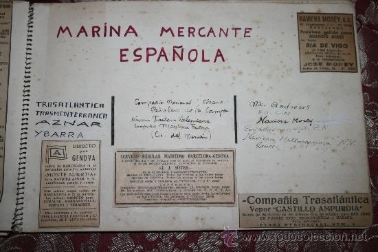 Postales: INTERESANTE COLECCIÓN DE FOTOGRAFÍAS, POSTALES Y RECORTES DE PERIÓDICO DE BARCOS - Foto 9 - 32336437
