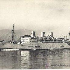 Postales: PS0971 POSTAL FOTOGRÁFICA DEL CRUCERO BRITÁNICO 'STRATHNAVER'. CIRCULADA EN 1948. Lote 32393429