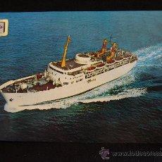 Postales: POSTAL BARCOS.9. COMPAÑIA TRANSMEDITERRANEA. BUQUE JUAN MARCH. COMERCIAL ESCUDO DE ORO.. Lote 32489059