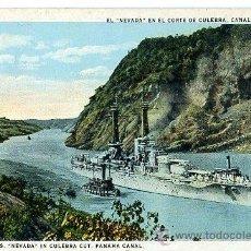 Postales: TARJETA POSTAL NUEVA - CANAL PANAMA / USS NEVADA - BARCO NAVAL MILITAR. Lote 32503460