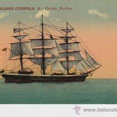 Postales: MARINA DE GUERRA ESPAÑOLA . 10 CORBETA NAUTILUS.. Lote 32606714