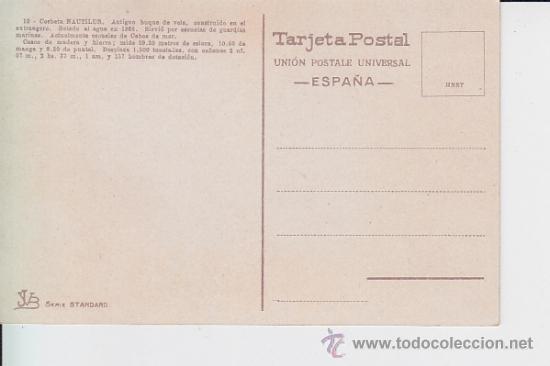 Postales: marina de guerra española . 10 Corbeta Nautilus. - Foto 2 - 32606714