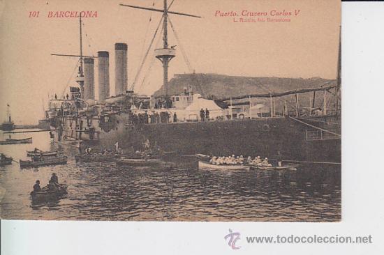 101 BARCELONA PUERTO . CRUCERO CARLOS V (Postales - Postales Temáticas - Barcos)