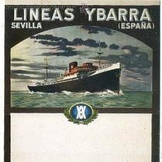 Postales: POSTAL DE BARCO. LINEAS YBARRA. SEVILLA P-BAR-283 ,9. Lote 277598893