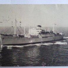 Postales: POSTAL, MOTONAVE- MARCO POLO, SOCIETA DI NAVIGAZIONE, GENOVA, 1953. Lote 33208848