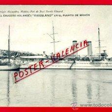 Postales: POSTAL, BARCO, CRUCERO HOLANDES FRIESLAND EN EL PUERTO DE MAHON, P71348. Lote 33383936