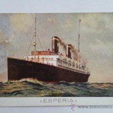 Postales: POSTAL BUQUE ESPERIA, SITMAR- LINE, EUROPA EGIPTO. Lote 33960523