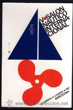 POSTAL V SALÓN NÁUTICO INTERNACIONAL. BARCELONA 1967. NO CIRCULADA. (Postales - Postales Temáticas - Barcos)