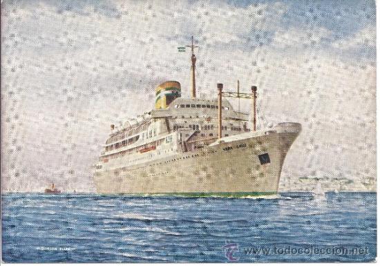 PS0960 POSTAL DEL PAQUETE 'VERA CRUZ' DE LA COMPANHIA COLONIAL DE NAVEGAÇAO. PORTUGAL (Postales - Postales Temáticas - Barcos)