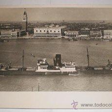 Postales: ANTIGUA FOTOGRAFIA, CASTILLO MONTIEL ENTRANDO EN VENECIA, 1948. Lote 34313245