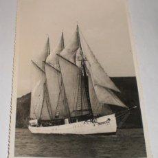 Postales: FOTOGRAFIA DEL BUQUE ESCUELA CRUZ DEL SUR, 1953, FOTOGRAFO CASAÚ - CARTAGENA. Lote 34338937