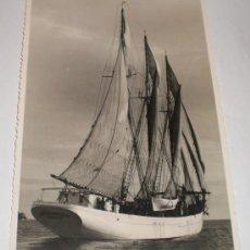 Postales: FOTOGRAFIA DEL BUQUE ESCUELA CRUZ DEL SUR, 1953, FOTOGRAFO CASAÚ - CARTAGENA. Lote 34338964