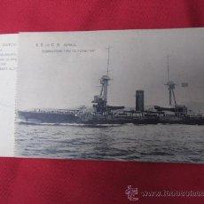 Postales: ACORAZADO TIPO ALFONSO XIII - SOC ESPAÑOLA CONSTRUCCION NAVAL - S/C HAUSER. Lote 34958168