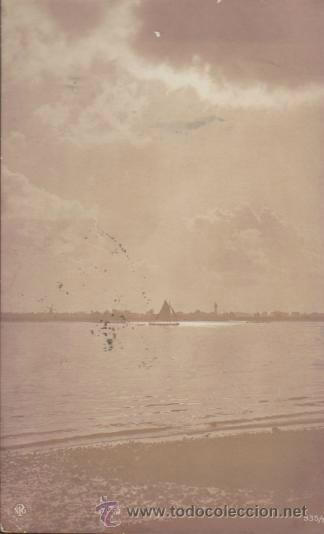 POSTAL ALEMANA. FRANQUEADO Y FECHADO EN PORTUGAL EN 1905. (Postales - Postales Temáticas - Barcos)