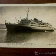 Postales: POSTAL TRANSBORDADOR VICTORIA-CORREO DE MARRUECOS-FOTO ROISIN Nº 129 ESCRITA 1953. Lote 35073108
