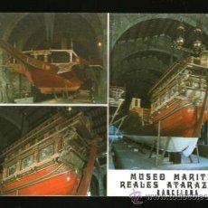 Postales: BARCELONA GALERA REAL MUSEO MARITIMO REALES ATARAZANAS - EDICIÓN CATALAN - POSTAL. Lote 35927815