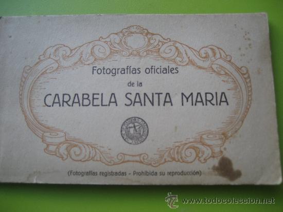 CARABELA SANTA MARIA. FOTOGRAFÍAS OFICIALES. KALLMEYER Y GAUTIER. 12 POSTALES (Postales - Postales Temáticas - Barcos)