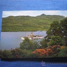 Postales: POSTAL BARCO MAID OF THE LOCH LLEGANDO A TARBET EN LOCH LOMOND ESCOCIA NO CIRCULADA. Lote 36304625