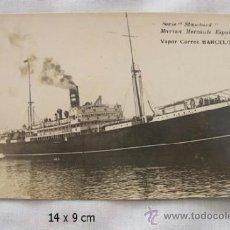 Postales: POSTAL BARCO VAPOR CORREO BARCELONA. Lote 36631271