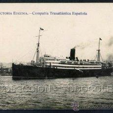Postales: POSTAL BARCOS VAPOR REINA VICTORIA EUGENIA CIA. TRASATLANTICA . FOTOGRAFIA AUTENTICA CA AÑO 1915 .. Lote 37020105