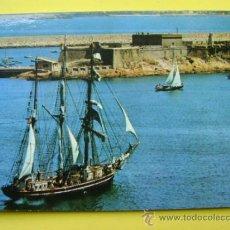 Postales: POSTAL SIN CIRCULAR CORUÑA FOTO BLANCO CASTILLO DE SAN ANTÓN, 1965. Lote 37044907