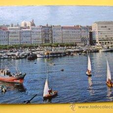 Postales: POSTAL SIN CIRCULAR CORUÑA FOTO BLANCO Nº 124 PUERTO. Lote 37044913