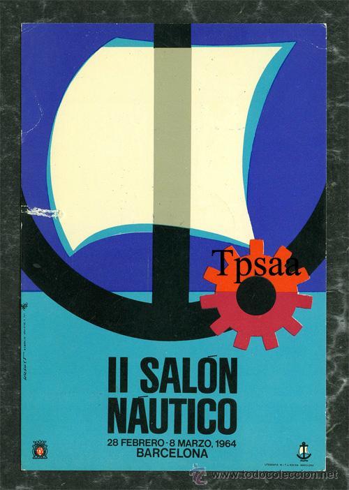 POSTAL II SALON NAUTICO BARCELONA AÑO 1964 CON MATASELLO BARCO (VER FOTO ADICIONAL) (Postales - Postales Temáticas - Barcos)