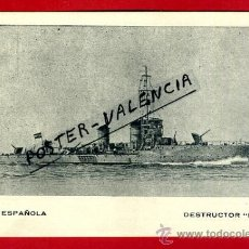 Postales: POSTAL BARCOS, ARMADA ESPAÑOLA, DESTRUCTOR HUESCA, P77953. Lote 37672096