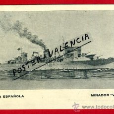 Postales: POSTAL BARCOS, ARMADA ESPAÑOLA, MINADOR VULCANO, P77955. Lote 37672109