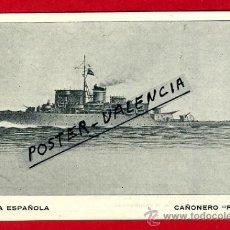 Postales: POSTAL BARCOS, ARMADA ESPAÑOLA, CAÑONERO PIZARRO, P77960. Lote 37672168