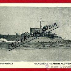Postales: POSTAL BARCOS, ARMADA ESPAÑOLA, CAÑONERO MARTIN ALONSO PINZON, P77962. Lote 37672252