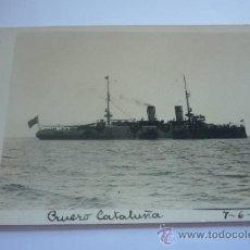 Postales: FOTOGRAFIA ANGEL RUBIO. CEUTA. CRUCERO CATALUÑA 1914. Lote 37787320