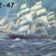 Postales: ANTIGUA POSTAL RELIEVE BARCO CUTTY SARK AÑOS 60 A ESTRENAR*. Lote 68874827