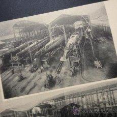 Postales: SOCIEDAD ESPAÑOLA DE CONSTRUCCION NAVAL, SEVILLA-BARCELONA, 1929, 8 POSTALES. Lote 39029856