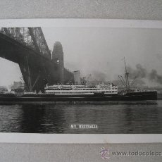 Postales: POSTAL MV WESTRALIA, BARCO DE LA MARINA REAL AUSTRALIANA (RAN), AÑOS 50 APROX. Lote 39127872