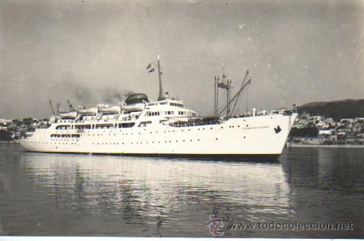POSTAL DEL BARCO CIUDAD DE BURGOS - MALLORCA - FOTO TRUYOL (Postales - Postales Temáticas - Barcos)