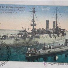 Postales: ANTIGUA TARJETA POSTAL COLOREADA - CRUCERO PRINCESA DE ASTURIAS Y TORPEDERO Nº 5 - SIN CIRCULAR . Lote 39279557