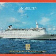 Postales: POSTAL - BARCO - MV MELODY - MEDITERRANEAN SHIPPING CRUISES - NUEVA - AÑOS 60 / 70 - . Lote 39351376