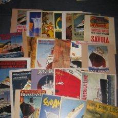 Postales: COLECCION DE 24 POSTALES DE BARCOS Y LINEAS MARITIMAS. Lote 39406485