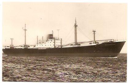 NORDDEUTSCHER LLOYD BREMEN: EL MS BISCHOFSTEIN (Postales - Postales Temáticas - Barcos)