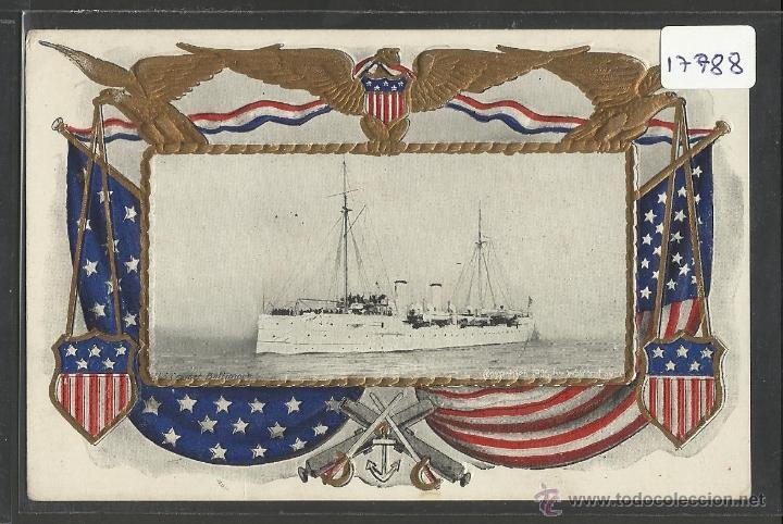 U.S CRUISER BALTIMORE - COPYRIGHT 1906 BY WALDON - BARCO - (17788) (Postales - Postales Temáticas - Barcos)
