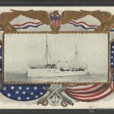 Postales: U.S CRUISER BALTIMORE - COPYRIGHT 1906 BY WALDON - BARCO - (17788). Lote 39809275
