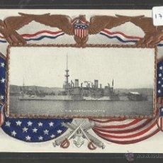 Postales: U.S.S MASSACHUSETTS - BARCO - (17790). Lote 39809354
