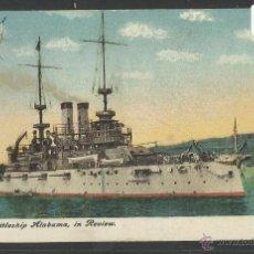 Postales: U.S BATTLESHIP ALABAMA, IN REVIEW - 72-3 - (17791). Lote 39809393