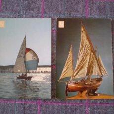 Postales: LOTE DE 2 POSTALES DE BARCOS VELEROS.. Lote 39888027