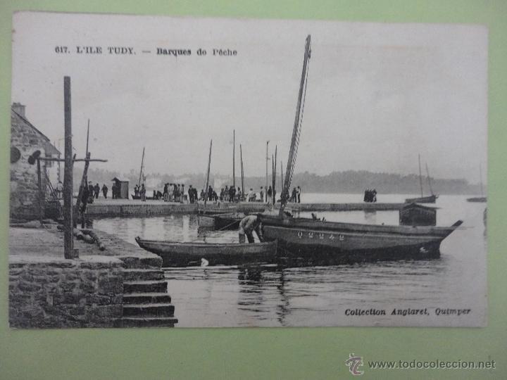 LÍLE TUDY- BARQUES DE PÉCHE. COLLECTION ANGLARET, QUIMPER (Postales - Postales Temáticas - Barcos)
