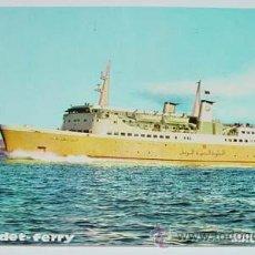 Postales: ANTIGUA POSTAL DEL BARCO TRANSBORDADOR LILMADET-FERRY - MALAGA-TANGER - NO CIRCULADA - ED. PERGAMIN. Lote 38239637