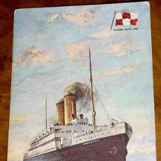 Postales: ANTIGUA POSTAL DEL BARCO S.S. EMPRESS OF BRITAIN . CANADIAN PACIFIC LINE - TUCK´S POST CARD - SIN CI. Lote 38249781