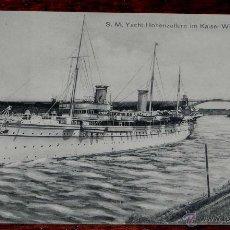 Postales: ANTIGUA POSTAL DE KIEL - ALEMANIA - BARCO S.M. YACHT HOHENZOLLERN - NO CIRCULADA.. Lote 38270128